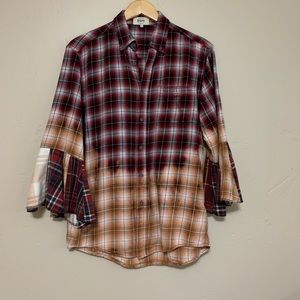 ReLove Flannel Bell Sleeve Button Down Small